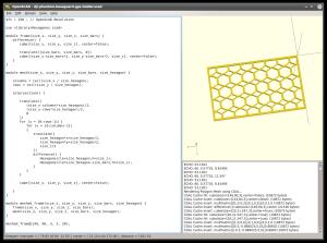 openscad_modul_meshed_frame