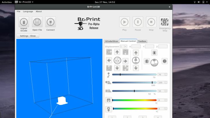 brprint3D: KDE Steuerprogramm für 3D-Drucker (3D-Printer-Host)