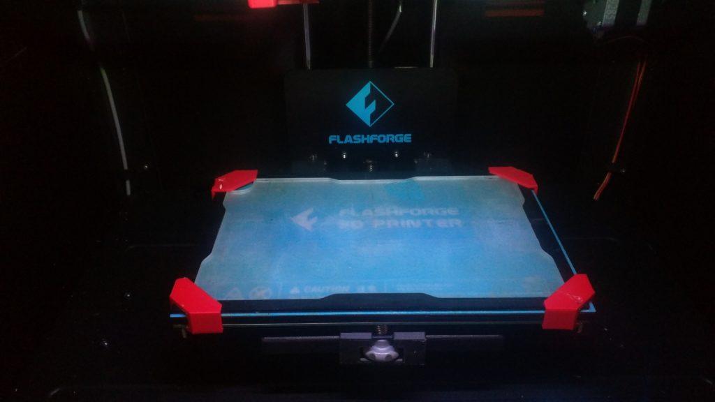 Fleks3D Druckplatte mit Klammern