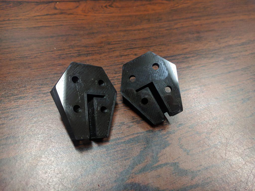 3D-Druck Rückseite auf Glasbett gedruckt