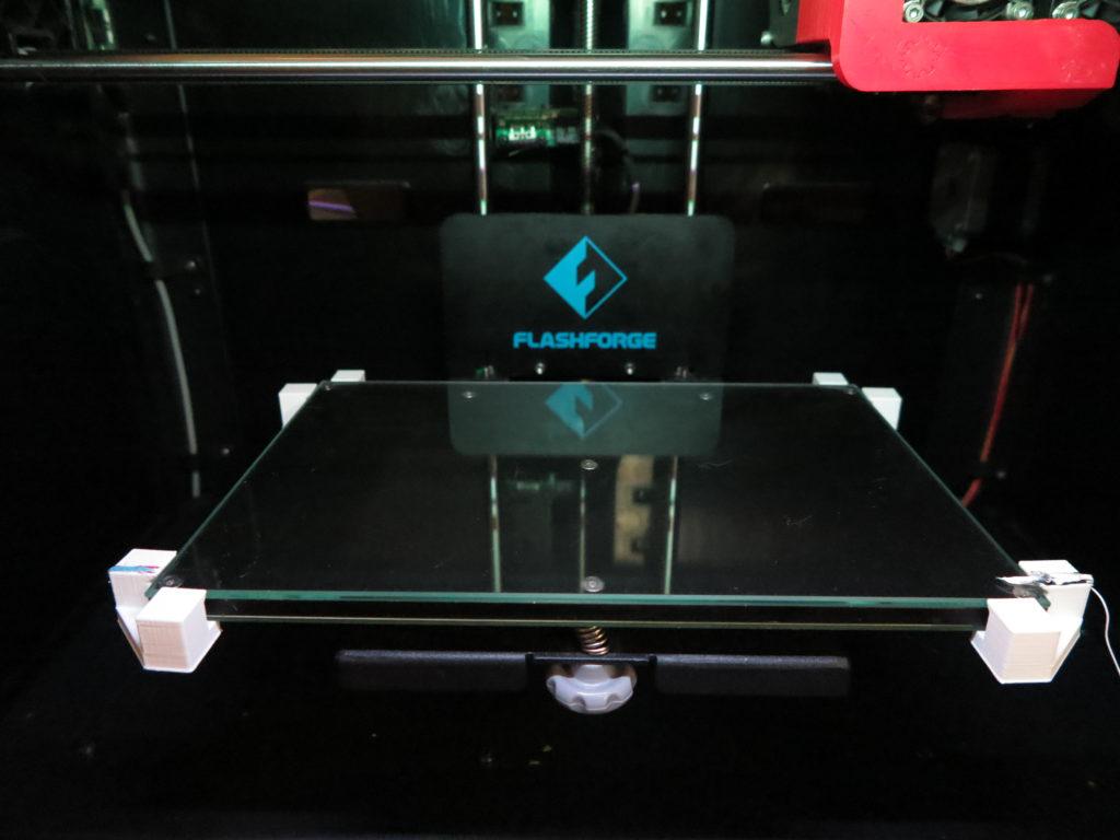FFCP mit Glasscheibe als Druckbett
